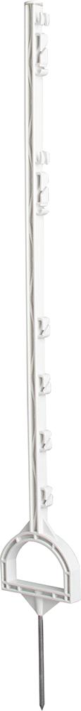 Steigbügelpfahl, weiß, mit Steigbügelfußtritt (10 Stück / Pack)