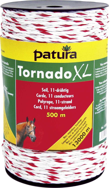 Tornado XL Seil, 8 Niro 0,20 mm, 3 Cu 0,30 mm, weiß-rot