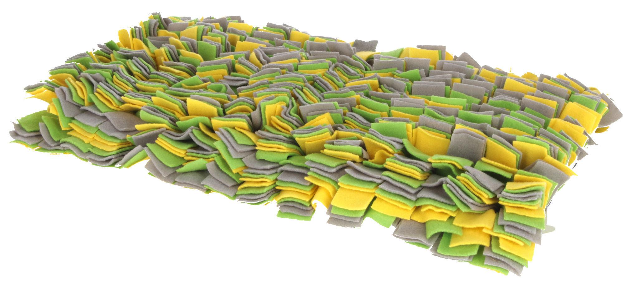 Schnüffelteppich gelb/grün/ grau, 70x50cm