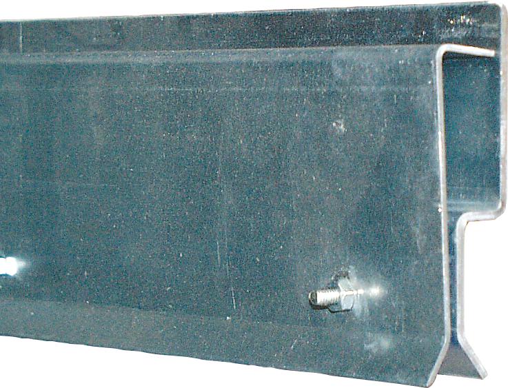 Klemmprofil, Front-Montage für Streifenvorhang