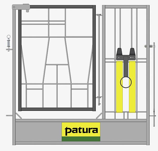 Tür geteilt mit Bänder Nuckeleimerhalter höhenverstellbar