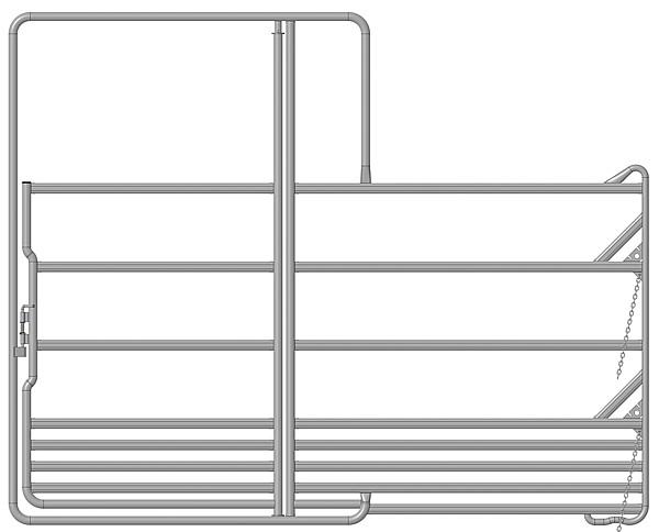 Sicherheits-Pferde-Panel mit Tor 3,60 m