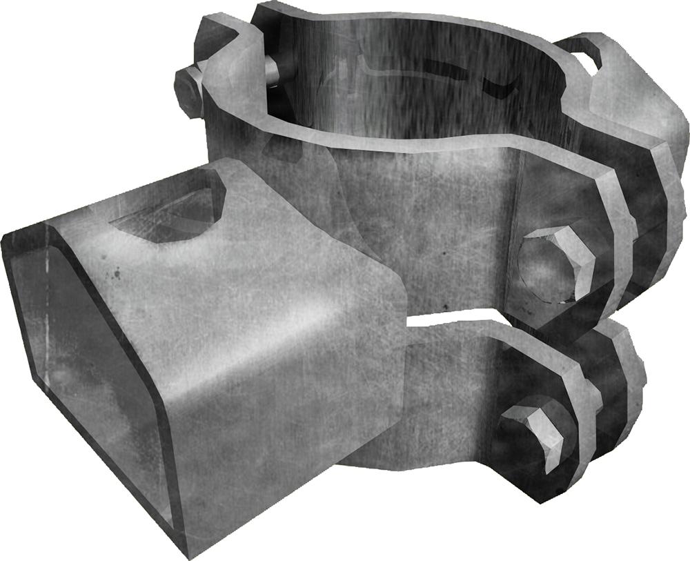 Schelle d=102 mm, mit 2 Riegelhalter TS
