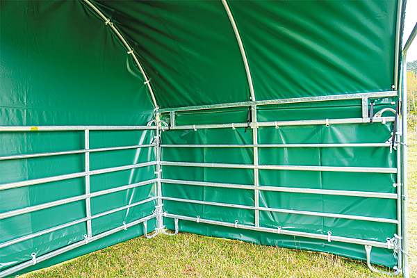 Wetterschutzplane Panel-Dach Compact Giebelseite