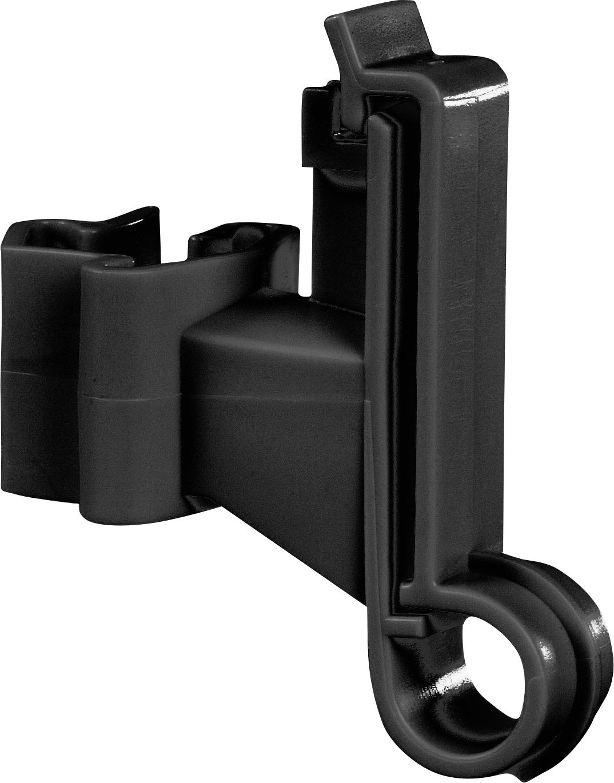Breitband-Isolator f. T-Pfosten, schwarz (Karton mit 500 Stück)