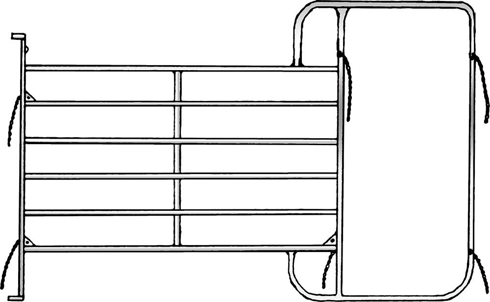 Panel-6 mit Rahmen 3,05 m, H= 2,10 m, vz