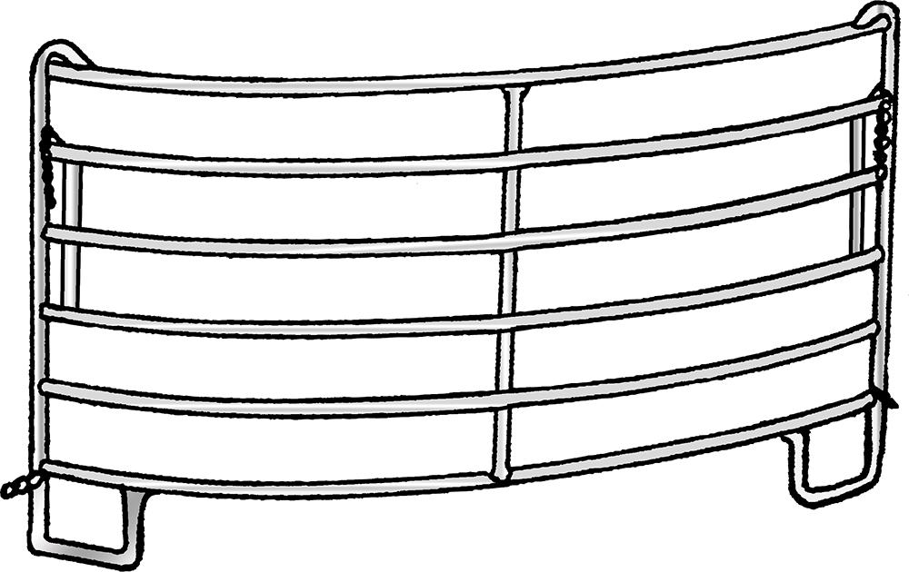 Kurvenpanel-6, 2,44m, Radius 3,00 m, vz