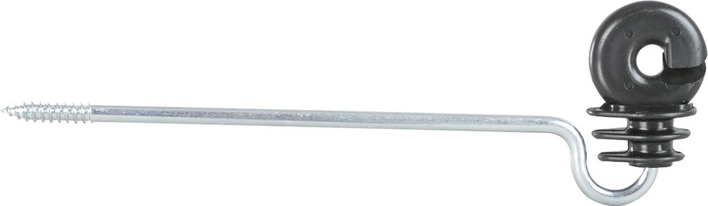 Ringisolator mit langem Schaft, Schaftlänge 20cm Holzgewinde
