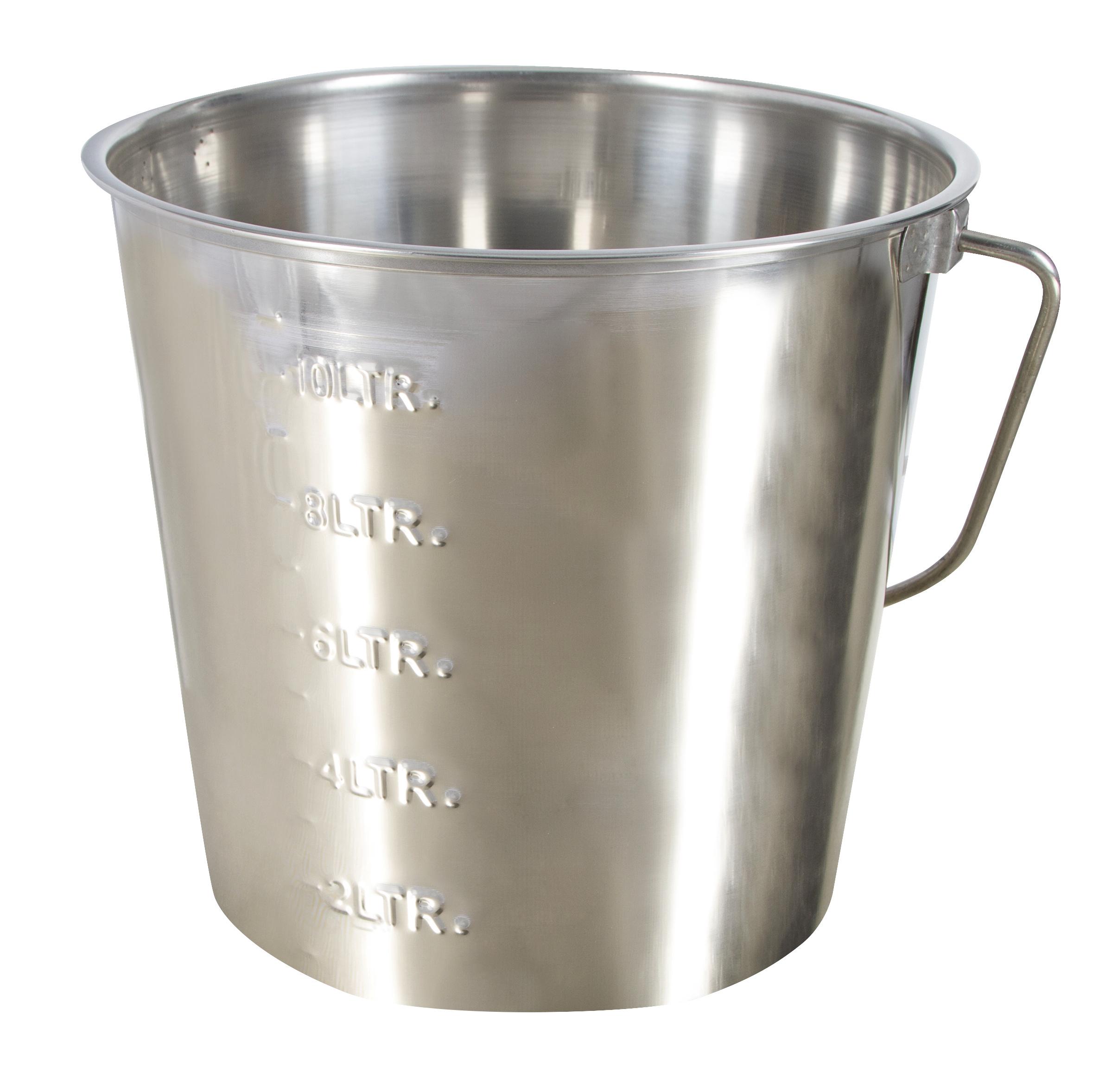 Edelstahleimer 12,3 Liter mit Skalierung