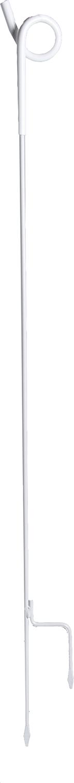 Federstahlpfahl mit Ösenisolator, 1,07 m mit Stopfen und Trittstufe