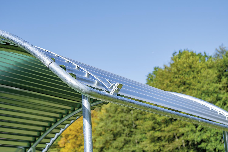 Dachkanten-Schutzbügel, umlaufend, für Compact-Viereckraufe 303572
