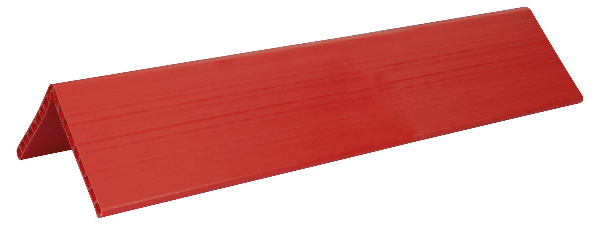 Kantenschutzwinkel 1,20m lang Doppelsteegplatte 19mm, orange