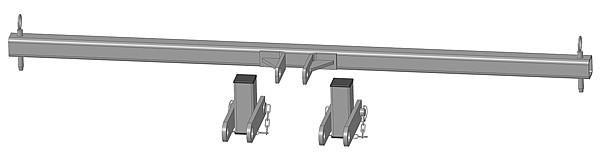 Dreipunktanhängung mit steckbaren Bolzen zur Viereckraufe mit Sicherheits-