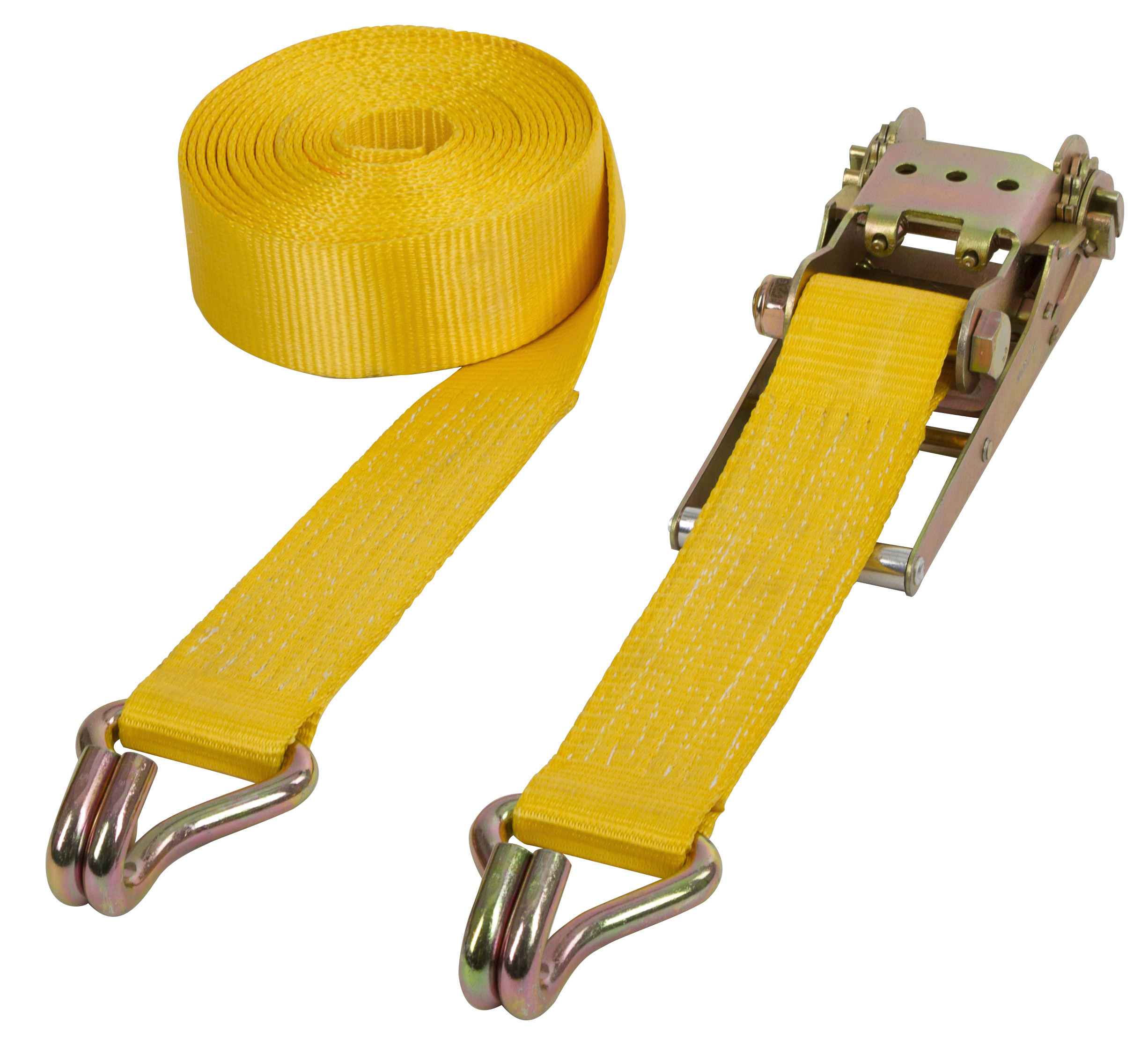 Schwerlastzurrgurt 2-teilig gelb, 75mm, 8m, 10.000kg