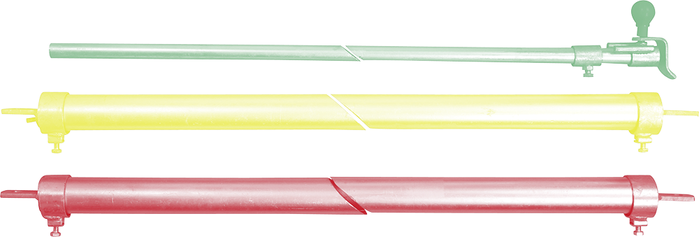 Trägerrohre Nennlänge (1 Paar) mit Verriegelungsrohr und Zubehörbeutel