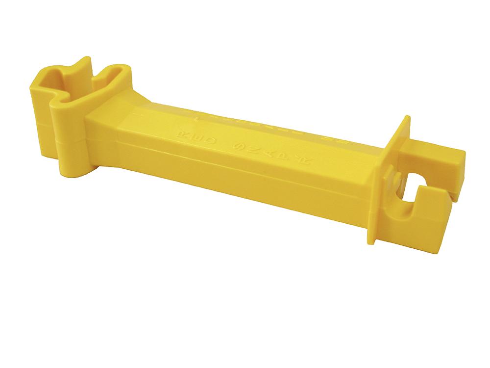 Abstands-Isolator, für T-Pfosten für Litzen/Seile bis 6mm (25 Stück/Pack)