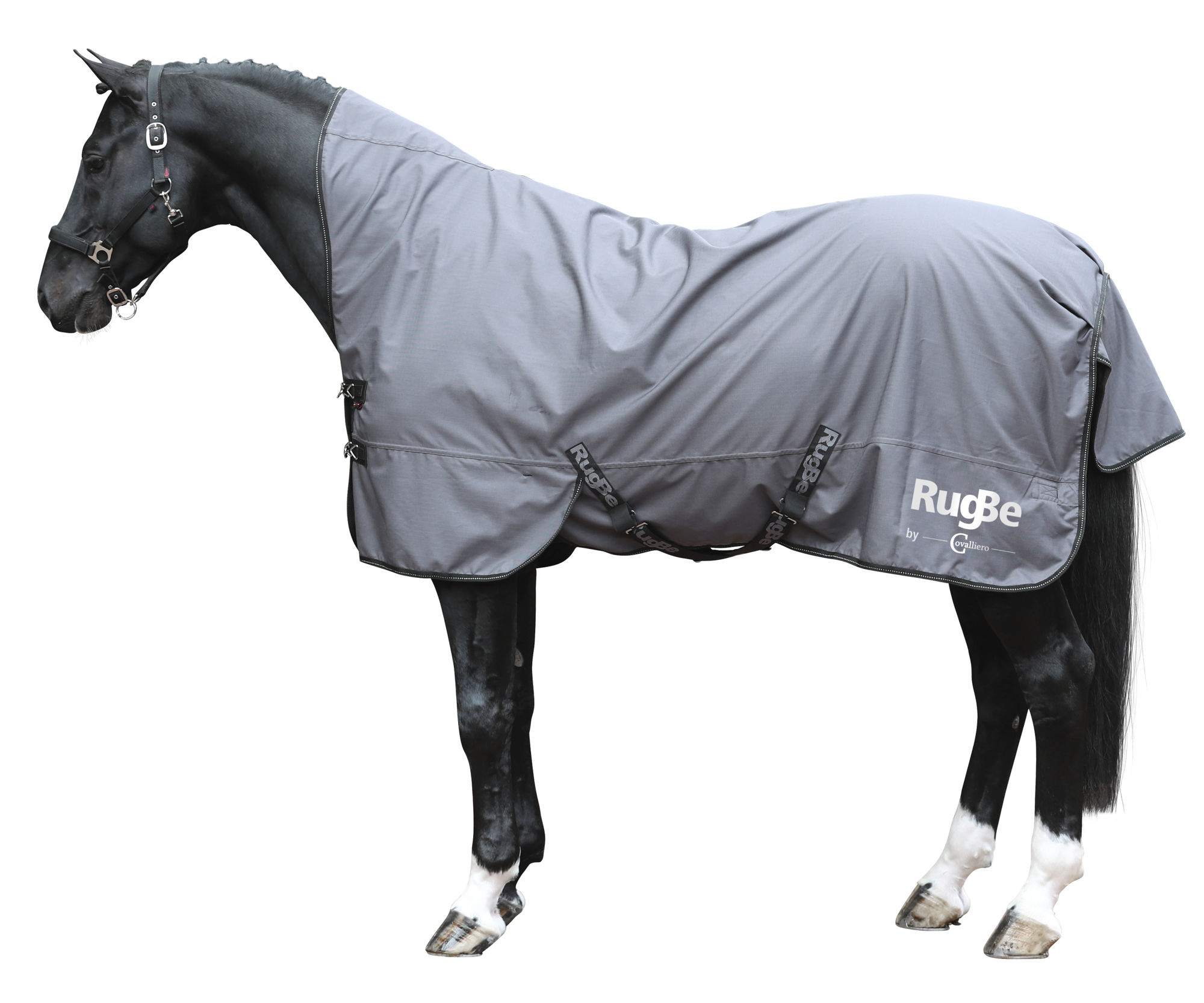 Outdoordecke RugBe Protect, 105cm, HighNeck, grey