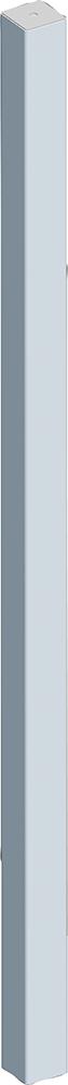 Pfosten Quadrat 90 mm, L= 2,13 m Wanddicke 6 mm