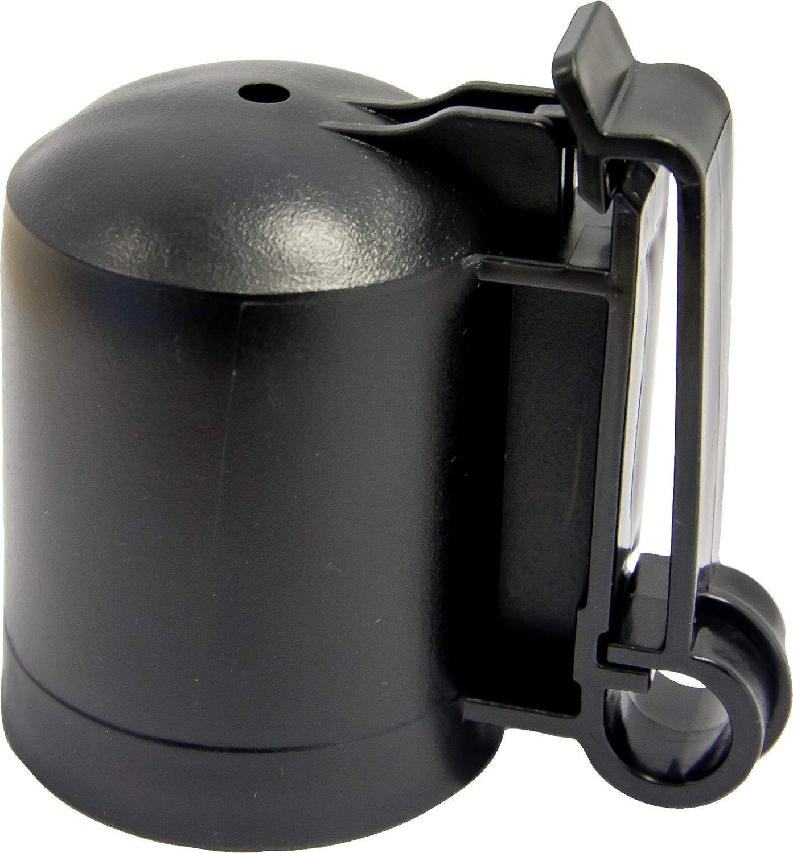 Kappen-Isolator f. T-Pfosten, schwarz
